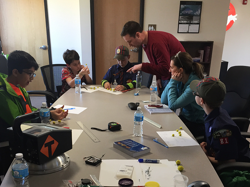 TransTech Systems Engineer teaching Boy Scouts