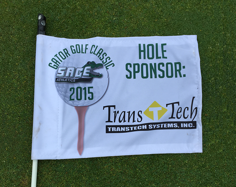 Sage Golf Flag with TransTech Logo